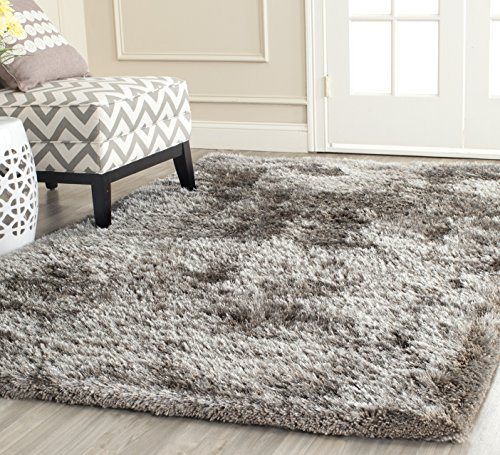 Handmade Polyester Rug - Safavieh South Beach Collection SBS562B Handmade Silver Polyester Area Rug (8' x 10')