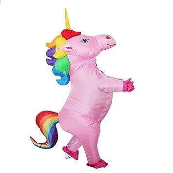 yuangong Unicornio Hinchable Disfraz Arcoiris Pony Caballo ...