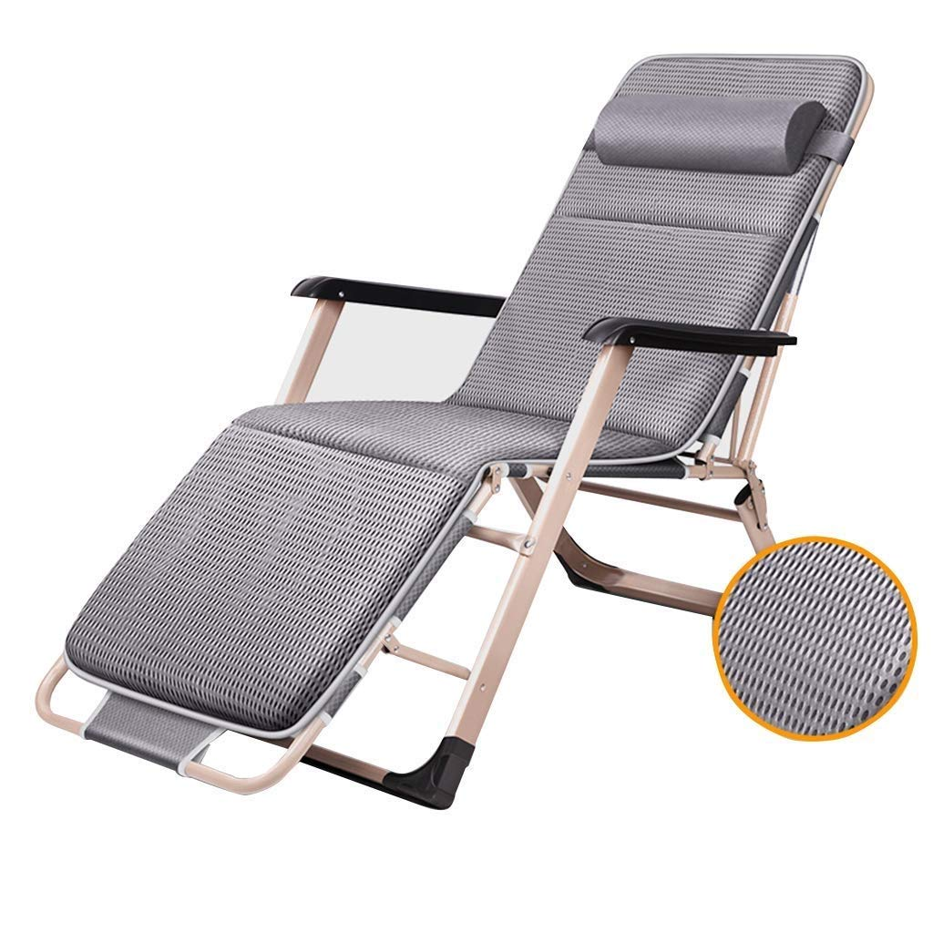 HZC Sun Loungers Zero Gravity Recliner Chair Living Room Balcony | Patio Garden Reclining Chairs Folding Deck Chairs for Pool Lawn Beach (Color : C) by HZC