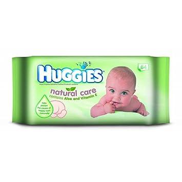 Huggies Bebé Cuidado Natural Se Limpia Con Aloe Y Vitamina E (64): Amazon.es: Hogar