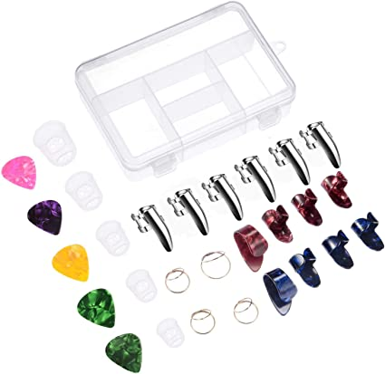 Kit de accesorios para guitarra Canomo, incluye 18 púas para ...