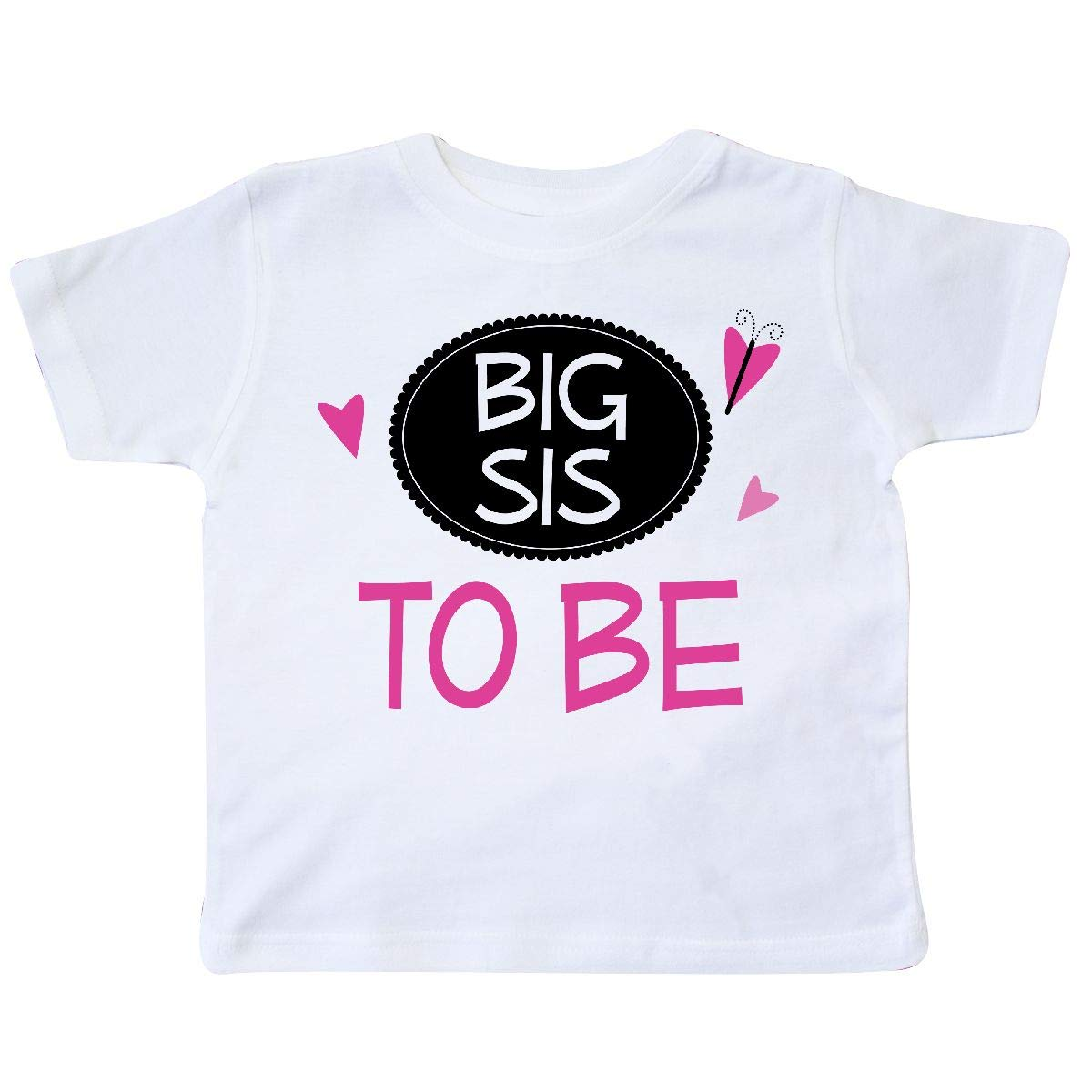 inktastic Big Sis to Be Girls Sister Announcement Toddler T-Shirt