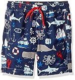 Hatley Little Boys' Swim Trunks, Vintage Nautical, 3 Years