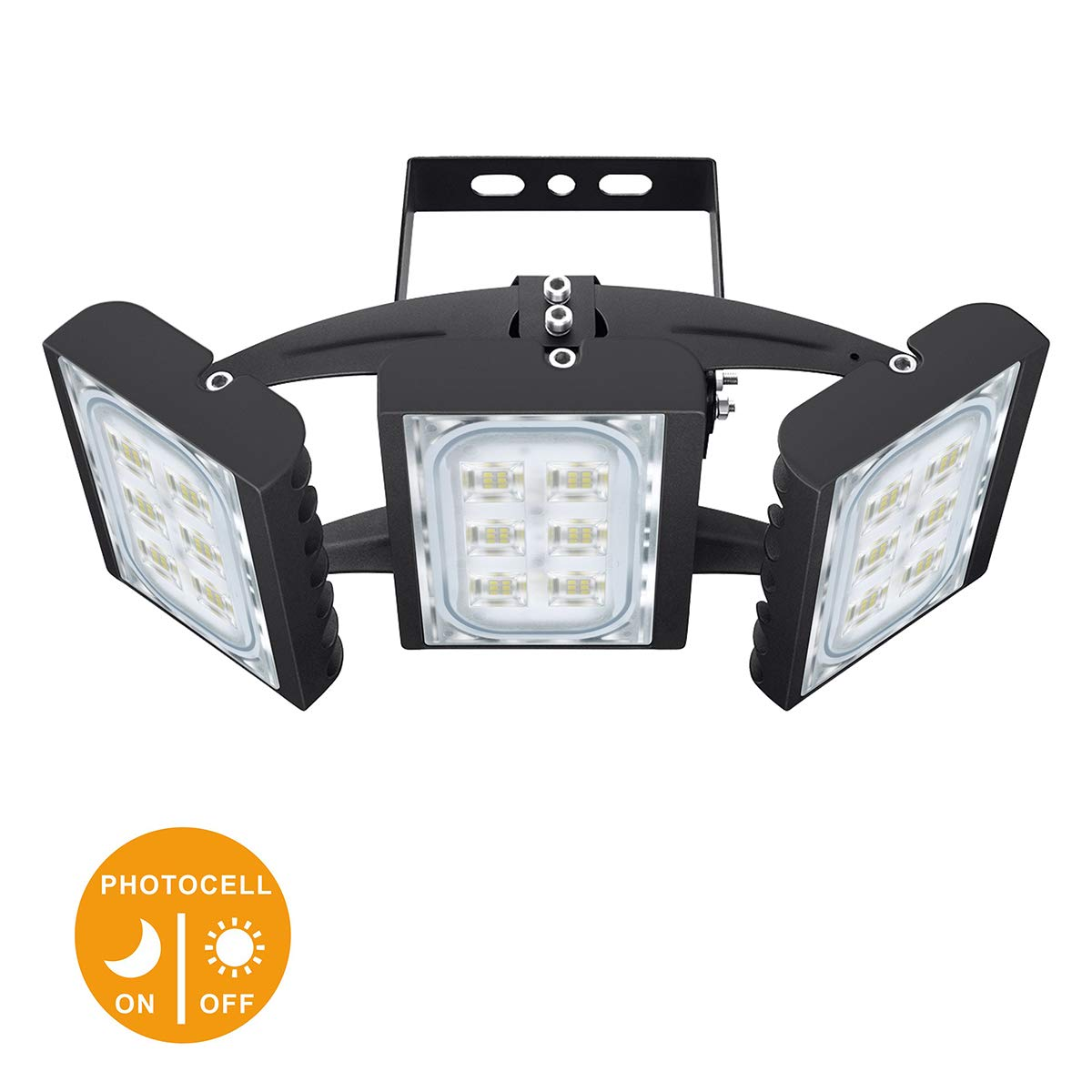 LED Flood Light, STASUN 90W 8100lm Dusk to Dawn Security Lights with 330°Wide Lighting Area(Photocell Included), 6000K Daylight, OSRAM LED Chips, Waterproof, Great for Yard, Street, Parking Lot