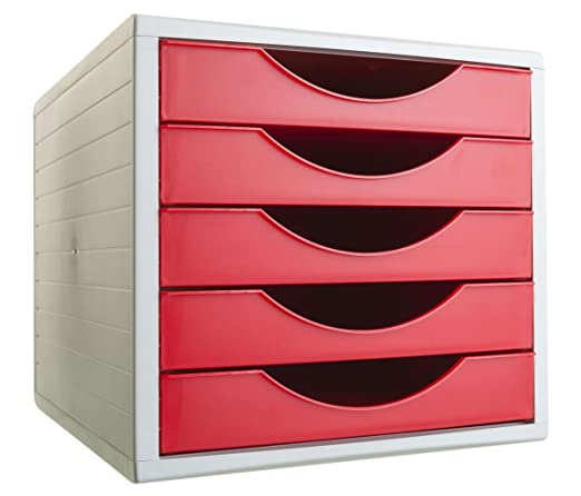 Archivo 2000 Archivotec Serie 4011 - Pack de 5 cajones, color cristal: Amazon.es: Oficina y papelería