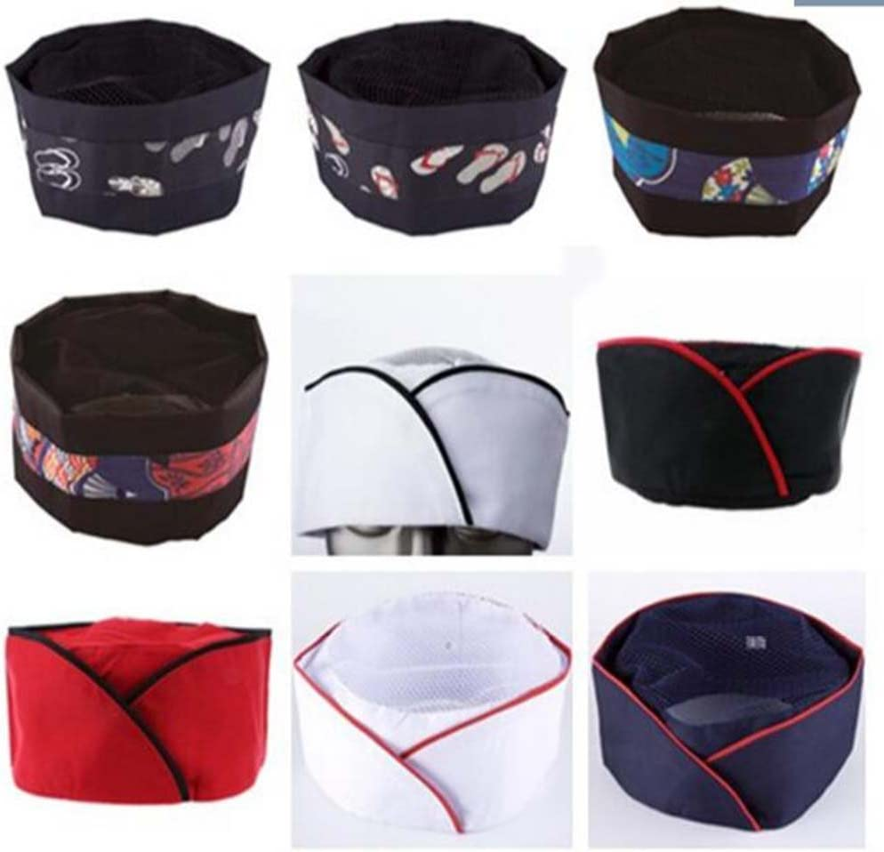 D Black Temptation Japanese Style Hat Sushi Shop Chef Hat Waiter Hat Kitchen Hat
