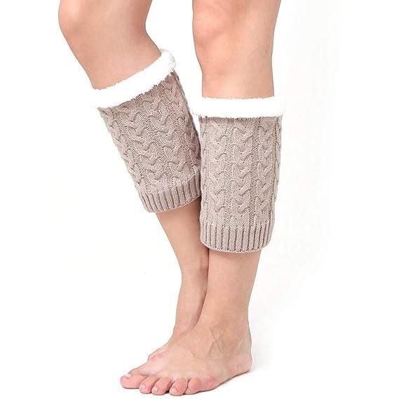 Sylar Calcetines Mujer Termicos Barato Grueso Suave Casual Más Terciopelo De Punto Color Sólido Calcetines Cómodos