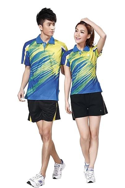 5b8eb99fd3c26 ZEVONDA Modelos de Pareja Fitness Ropa Deportiva T-Shirt Camisetas de Manga  Corta 2 Piezas Top + Pantalones  Amazon.es  Ropa y accesorios