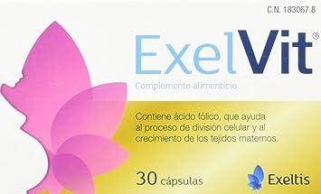 Exelvit Complemento alimenticio para embarazo - 30 Cápsulas ...
