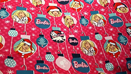 Christmas Wrapping Barbie Holiday Paper Gift Greetings 1 Roll Design Festive Wrap Barbie Doll -