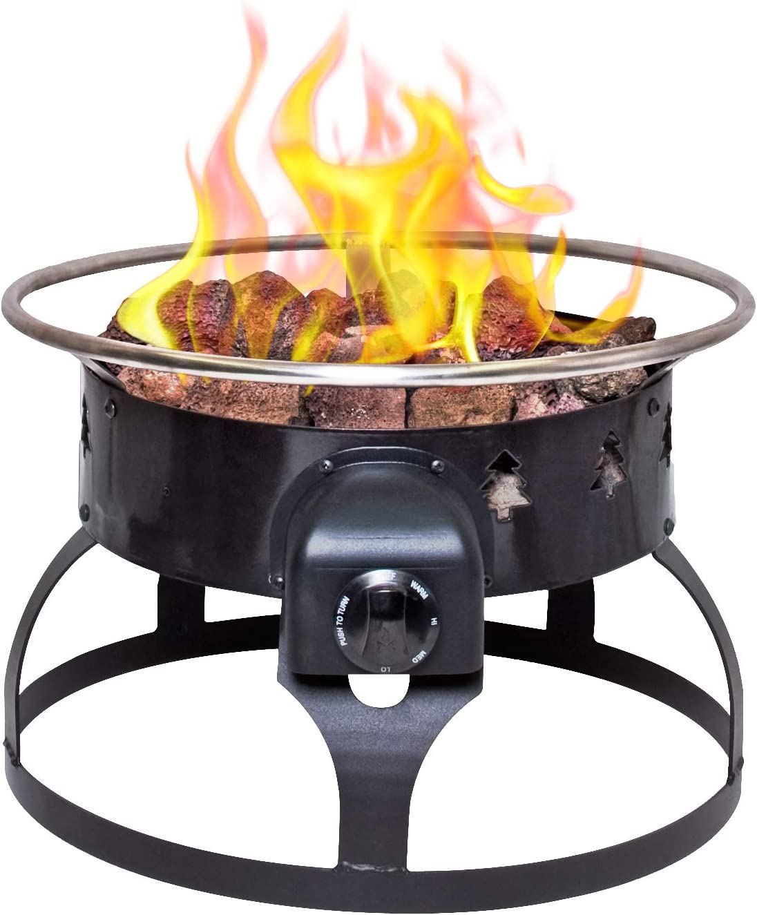 Camp Chef Redwood Portable Propane Fire Pit Sports Outdoors Amazon Com