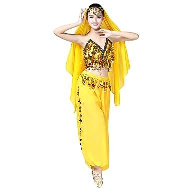 OBEEII Disfraz Danza del Vientre Mujer 3Piezas Traje de ...