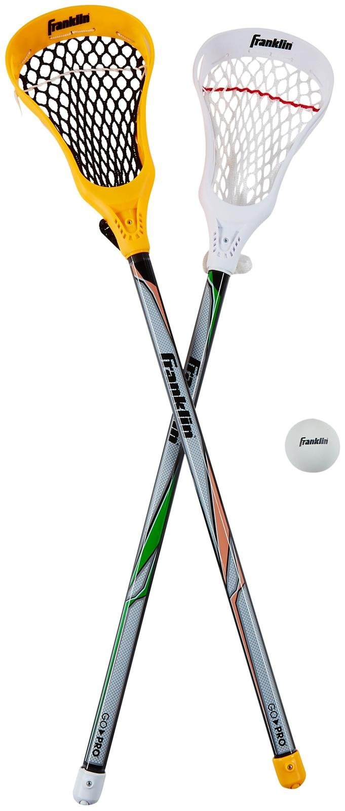 Franklin Sports Lacrosse 2 Stick and 1 Ball Set, Orange