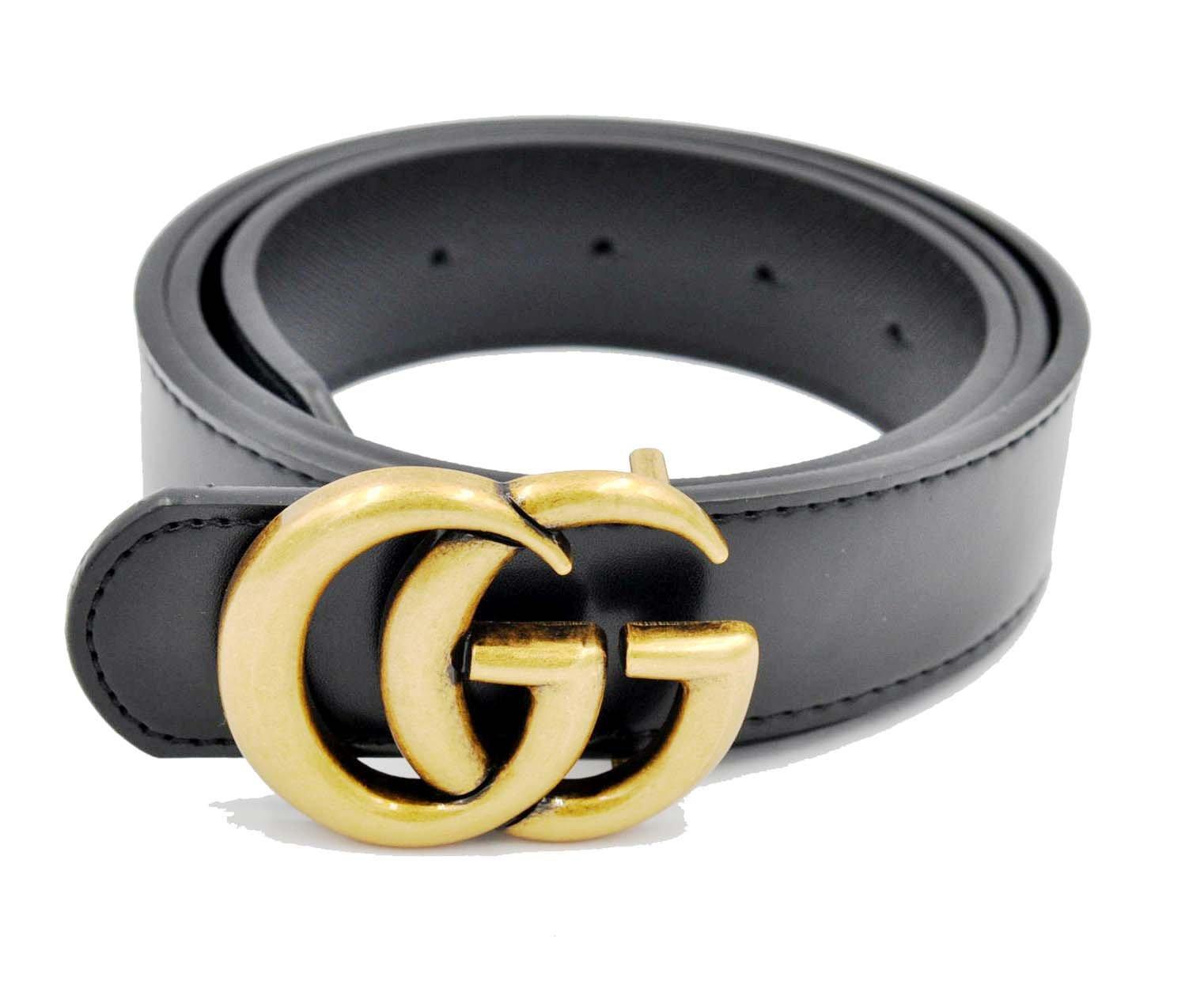 Luxury Designer GG Slim Belt for Women [3.2CM width] (Copper Buckle, 115CM [Waist 33''~35''])
