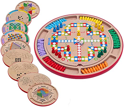 Sarahjers-Game Juegos de Mesa Multifunción Diez-en-uno Damas ...