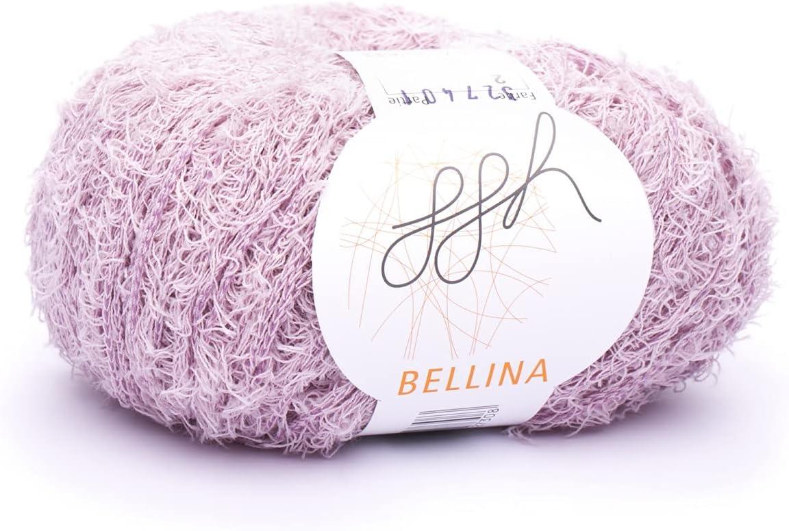 ggh Bellina   Baumwolle Mischung   32g Wolle zum Stricken oder Häkeln    Effektwolle   Farbe 32   Altrosa
