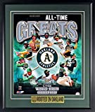 "Oakland Athletics ""ALL-TIME GREATS"" 11x14 Poster Print Display (w/ ""ROOTED IN OAKLAND"" 2018 Limited Edition Plate)"