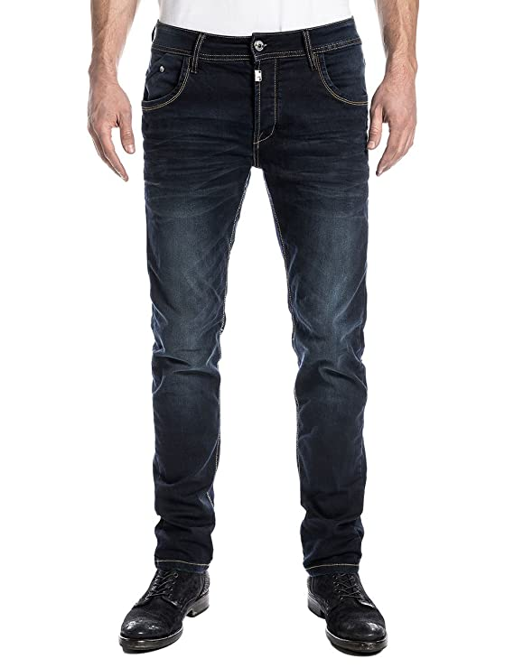 Costellotz, Jeans para Hombre, Azul (Ink Shadow Wash), 33W x 34L Timezone