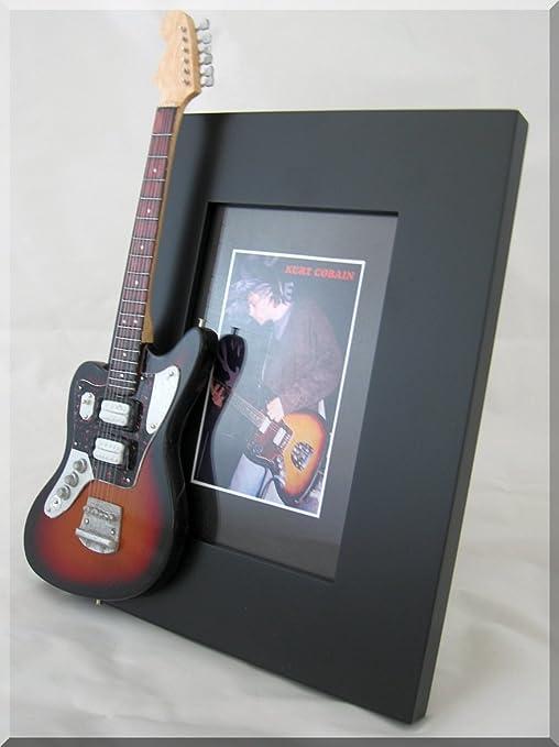 Kurt COBAIN - Marco de fotos para guitarra en miniatura Jaguar ...