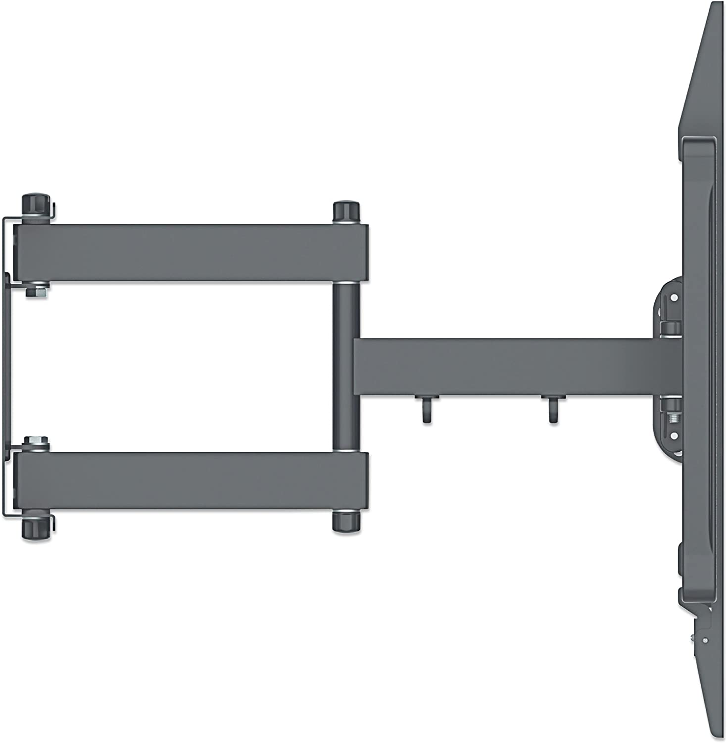 MANHATTAN Universal LCD Full Motion Large Screen Wall Mount 60-100 Inch Flat Panel and Curved Display TV Compatible Load Capacity 80Kg