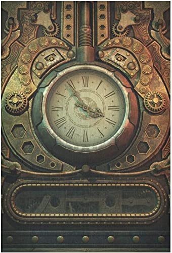 INTERESTPRINT Cool 3D Vintage Old Clock in Steampunk Style Tapestry Wall Hanging Tapestries Art for Bedroom Living Room Dorm, 60 W X 90 L Inches