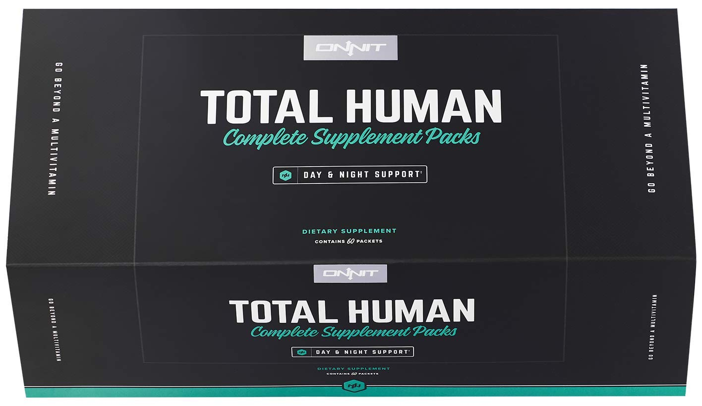 Onnit Total Human - Full Spectrum Daily Vitamin Packs for Men & Women - Vastly Superior to a Multivitamin - Packed with Essential Vitamins, Minerals, Herbs, and Amino Acids