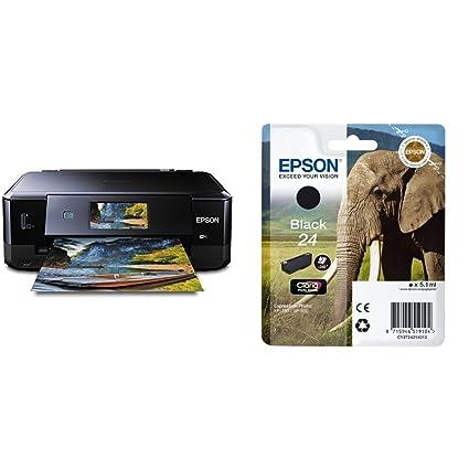 Epson Expression Photo XP-860 - Impresora multifunción de tinta (impresión WiFi y móvil), color negro + Cartucho negro