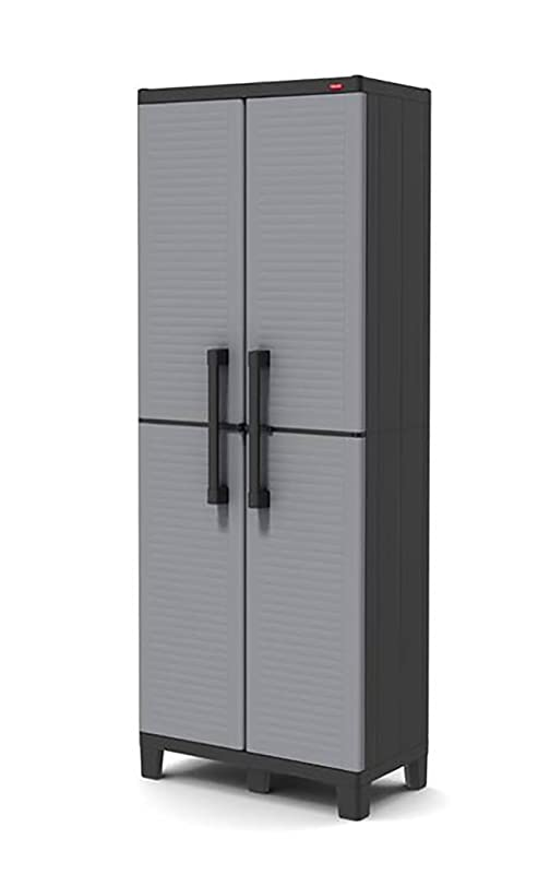 KETER Space Winner Louvre - Grey/ Black, 68x38x171 cm: Amazon.co ...