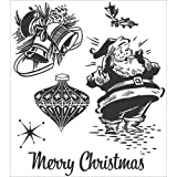 Stampers Anonymous Tim Holtz Cling Rubber Stamp Set, Christmas Memories
