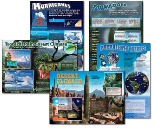Carson Dellosa Mark Twain Science: Extreme Climates and Weather Bulletin Board Set (410022)