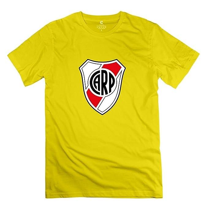 Hilary Susie Mens Escudo del Club River Plate Round Neck Fans T-Shirt XXXX-L: Amazon.es: Ropa y accesorios
