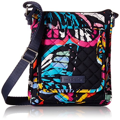 Vera Bradley Iconic RFID Mini Hipster, Signature Cotton, Butterfly - Butterfly Handbag Top Zip