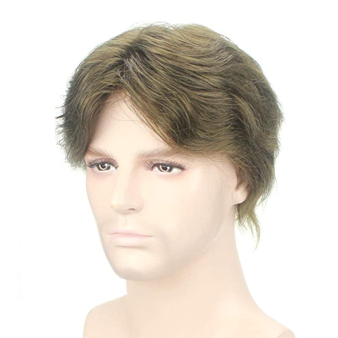 Peluquín para hombre Lordhair, de cabello humano, con redecilla: Amazon.es: Belleza