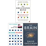 The Organized Mind, Neurotribes, The Brain The Story of You 3 Books Collection Set