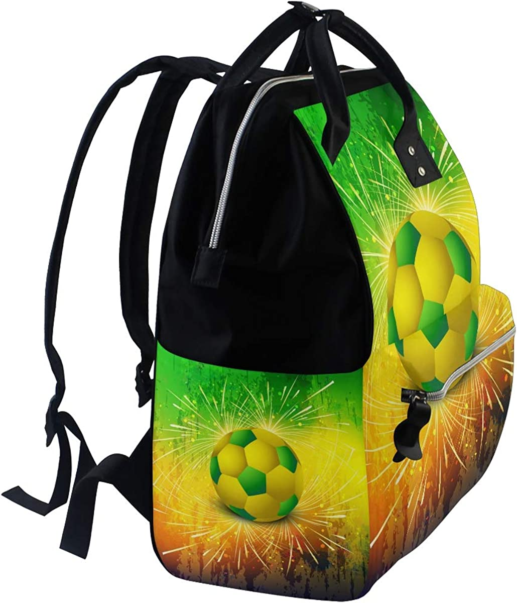 imobaby Brazilian Football Texture Changing Bags Large Capacity Handbags Canvas Shoulder Bag Backpack