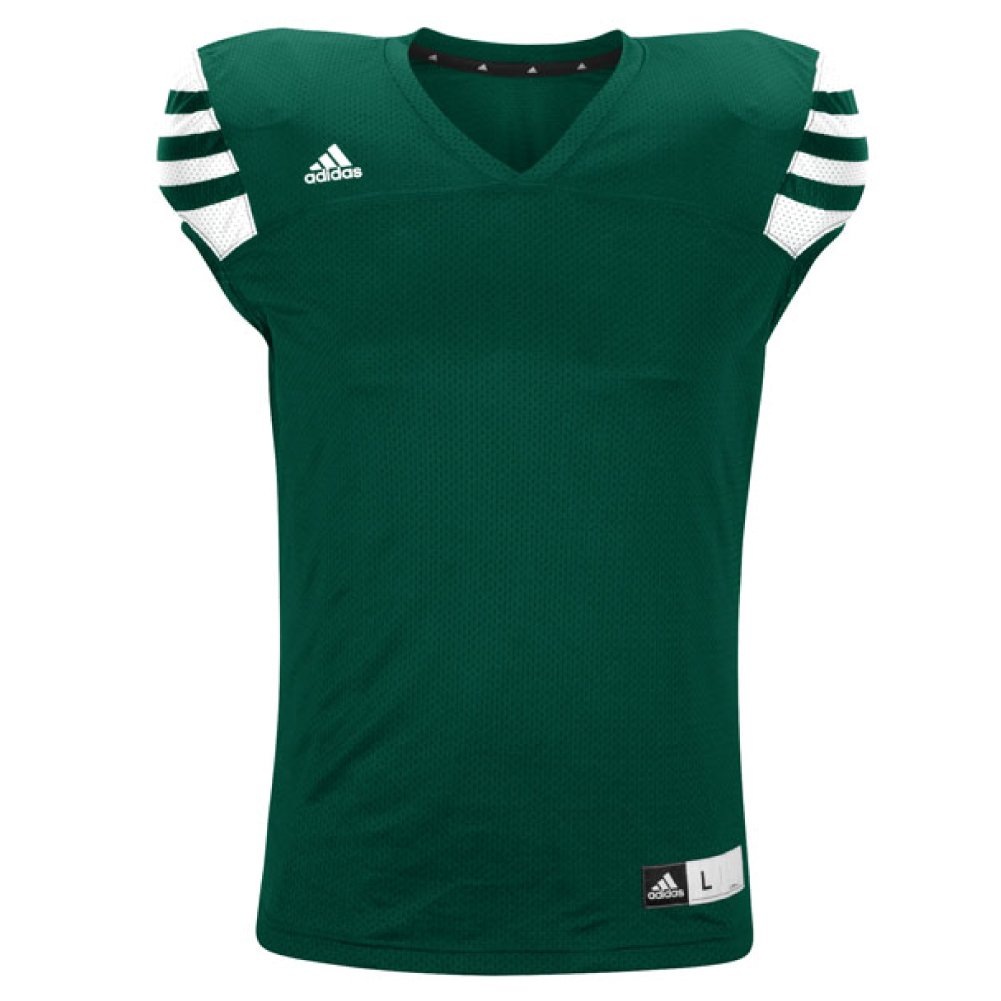 adidas Men's Climalite Audible Football Jersey B01878V3DE Medium|Green-white