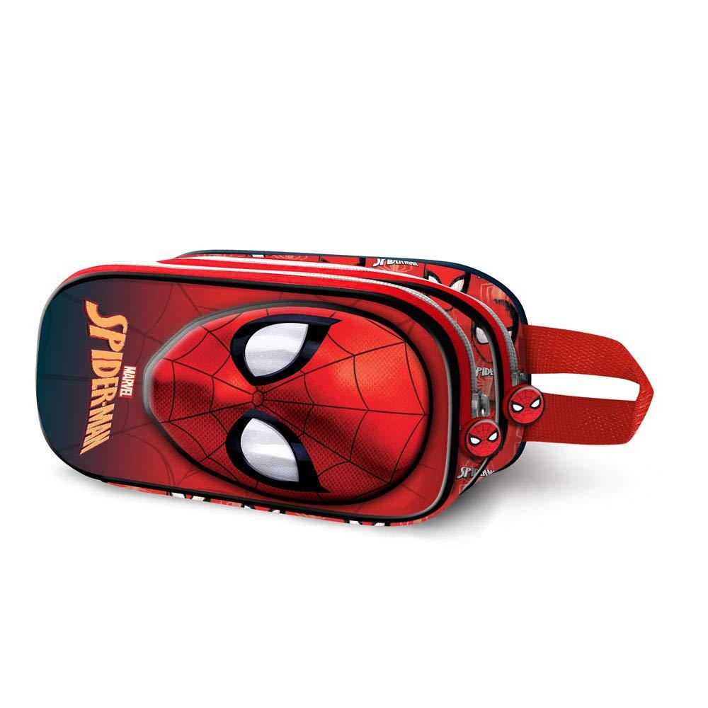Red Karactermania Spiderman Spiderweb-3D Doppelfederm/äppchen Estuches 22 Centimeters Rojo