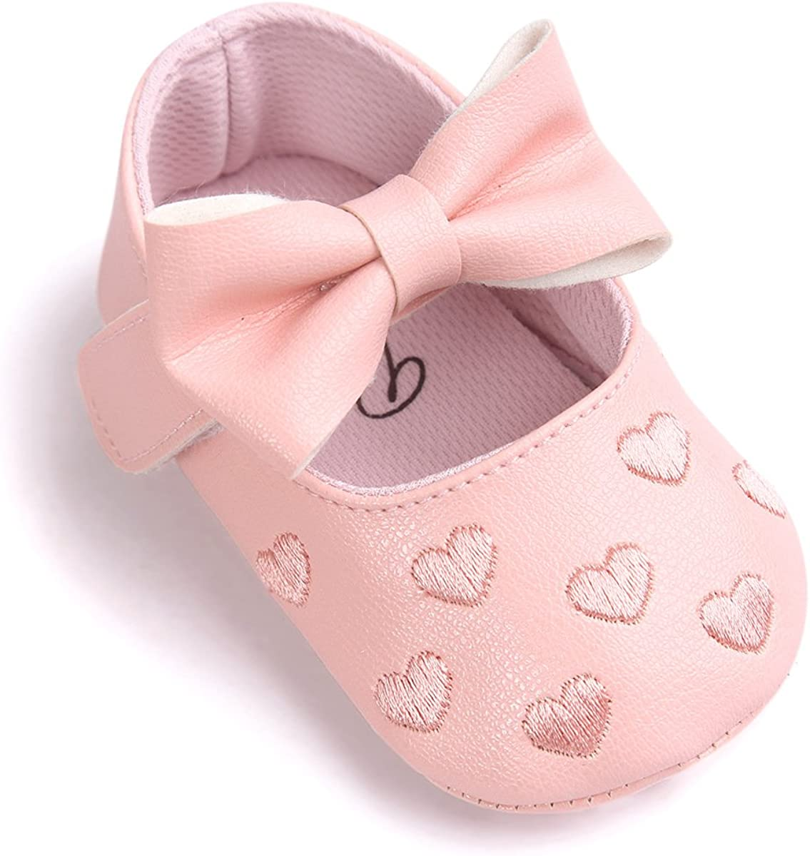 Zapatos de bebé,Auxma Niña Bowknot Zapatos de Cuero Zapatillas Antideslizante Suave niño único para 0-18 Meses
