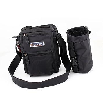 Zip al aire libre bolsa de reciclaje reutilizable negro w ...