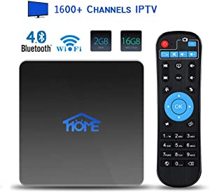 IPTV Box 4K Android TV Receiver, 1600+ International Live Channels Movies Films News Adults Sports Arabic Indian Brazil Japenese English(No Subscription Fee)