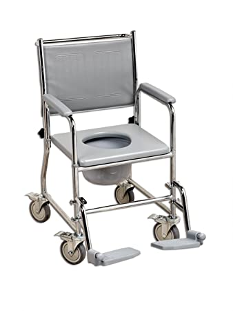 NRS Healthcare Wheeled Commode/Over Toilet Chair L22056 (Eligible ...