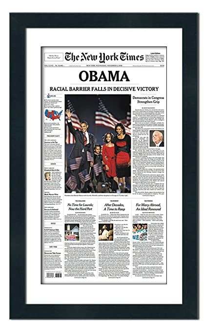 Amazon.com - Poster Palooza Newspaper Frame with Mat - Made to ...