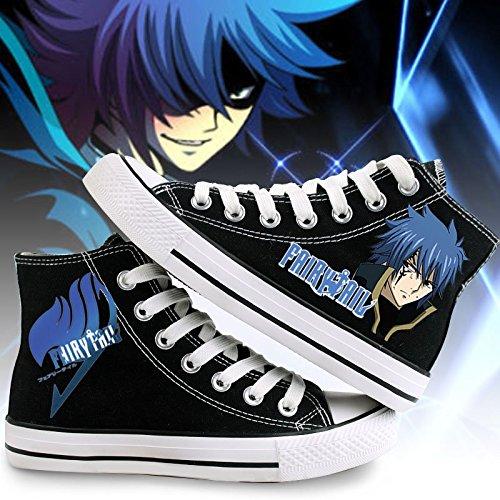Fairy Tail Canvas Schuhe Cosplay Schuhe Sneakers Weiß / Schwarz Schwarz 2