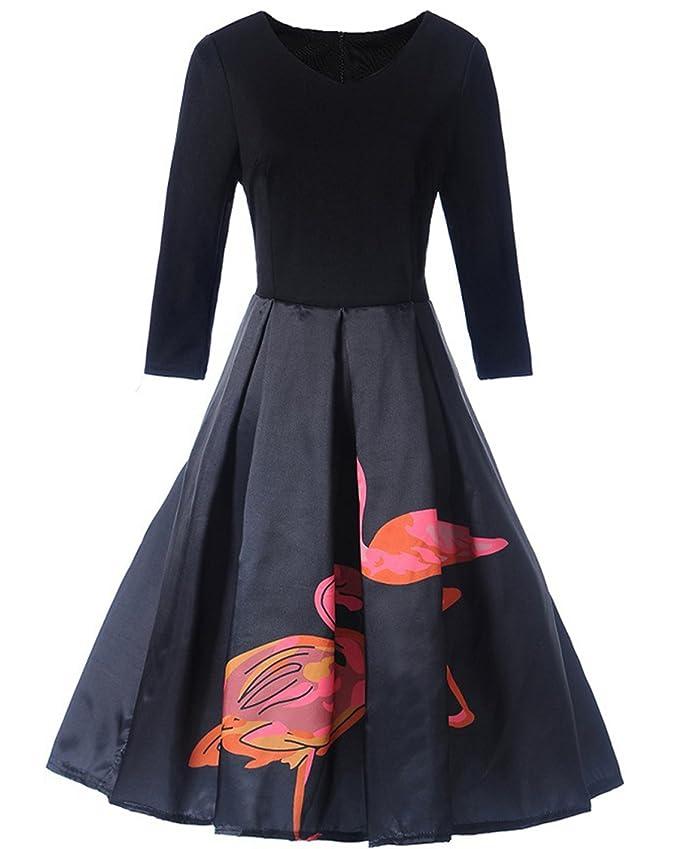 ZAFUL - Vestido - Noche - para Mujer Rose XXL: Amazon.es: Ropa y accesorios
