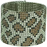 AUSTRIAN CRYSTALS (GENUINE) COIL WRAPS, CUFFS, BANGLES FLEXIBLE STACKABLE BRACELETS (20 ROW ANIMAL/SILVER)