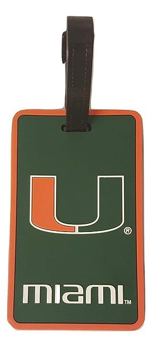 aminco NCAA Miami Hurricanes Soft Bag Tag U Logo