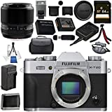 Fujifilm X-T20 Mirrorless Digital Camera (Silver) 16542359 60mm f/2.4 XF Macro Lens 16240767 Bundle