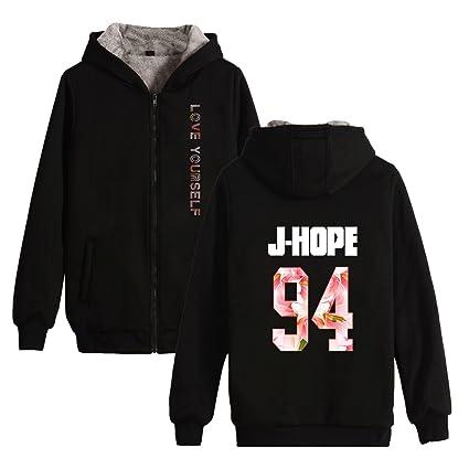 a6d9ced2649 Amazon.com   KPOP BTS Love Yourself Her Thicker Hoodie Bangtan Boys  Sweatershirt Suga Jimin   Sports   Outdoors