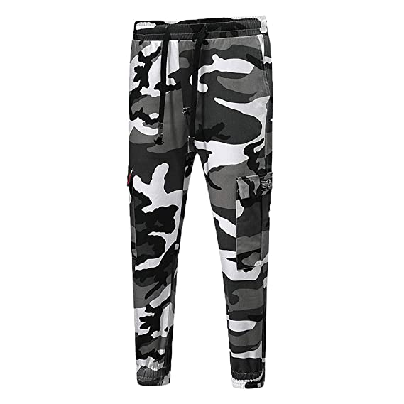 Pantalones para Hombre,Chándal de Hombres Camuflaje Impresión ...