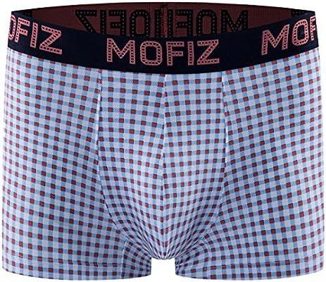 Mens Boxer Briefs Breathable Underwear Comfortable No-Ride up Checkered Board Boxers Brief